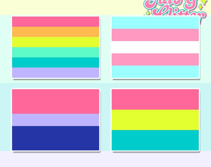 LGBTQ Flags, Choice of Flag Holographic Sticker