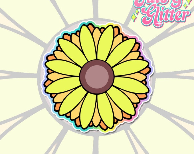 Sunflower White Vinyl Sticker Set