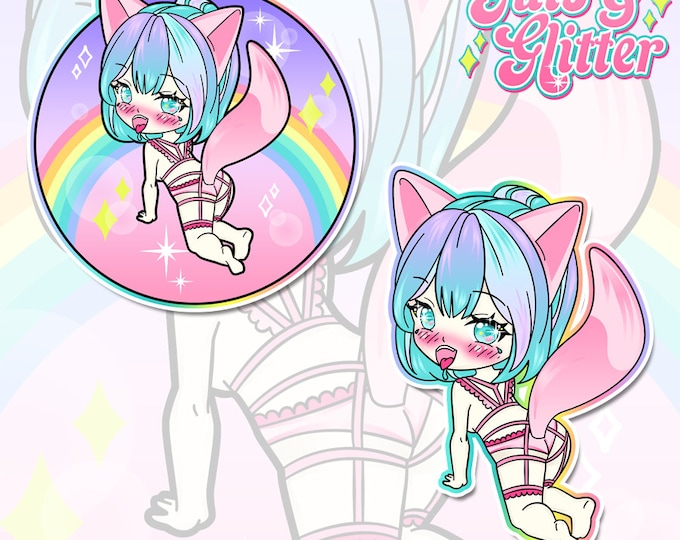 Bad Kitty, DDLG Chibi Holographic Sticker