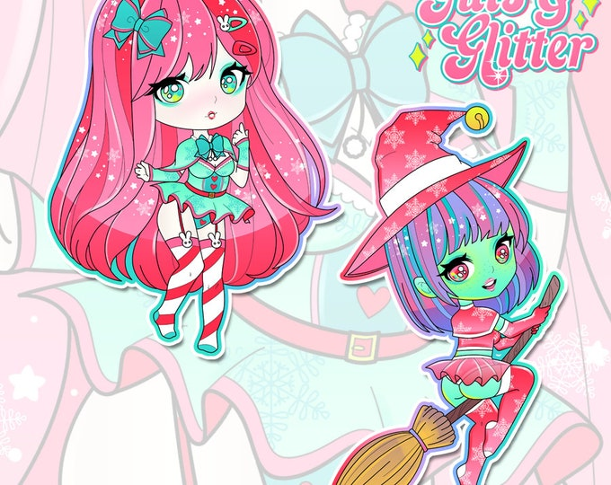 Christmas, DDLG Choice of Chibi Holographic Sticker