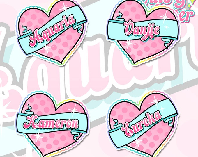 Ru Paul Season 10 Inspired Hearts Holographic Sticker