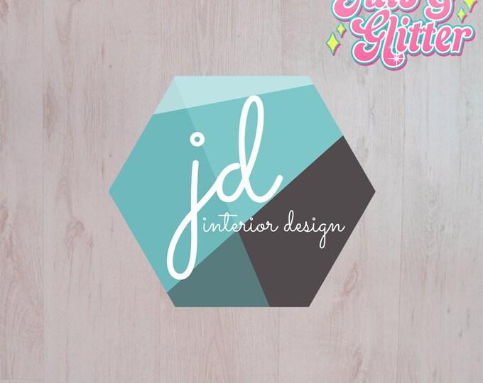 Digital Download Geometric Hexagon Logo