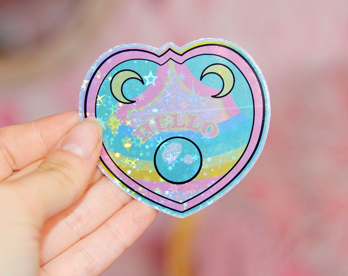 Rainbow Ouija Planchette Holographic Sticker
