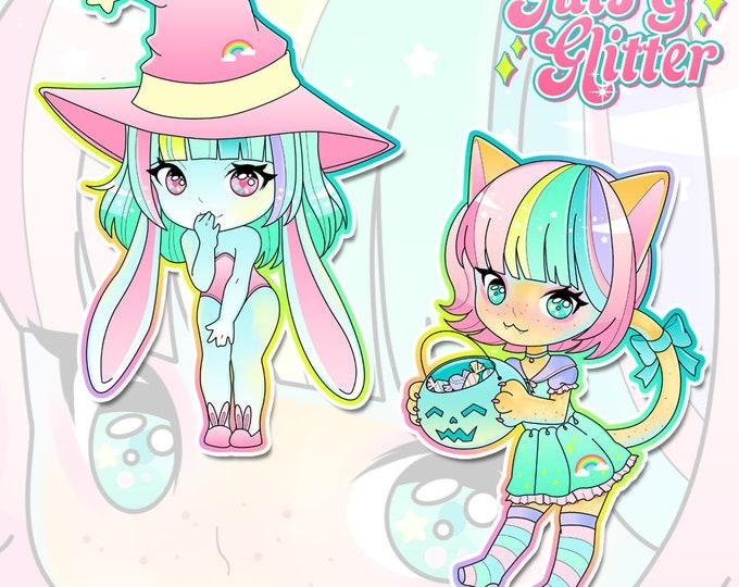 Halloween Pastel, DDLG Chibi Holographic Sticker