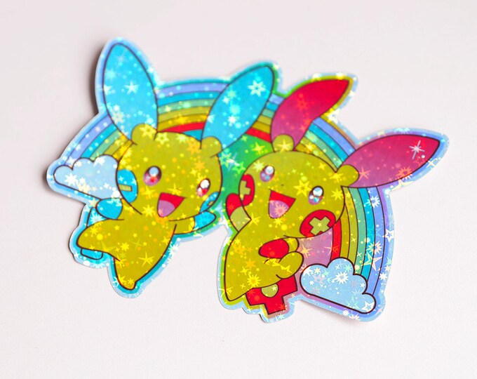 Plusle and Minun, Pokemon Holographic Sticker