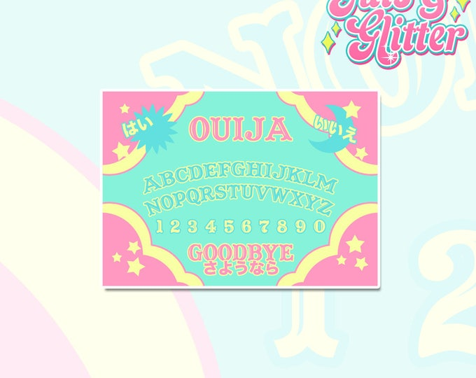 Kawaii Ouija Board White Vinyl Sticker