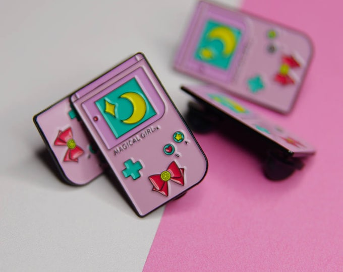 Magical Girl, Gameboy Style  Soft Enamel Pin
