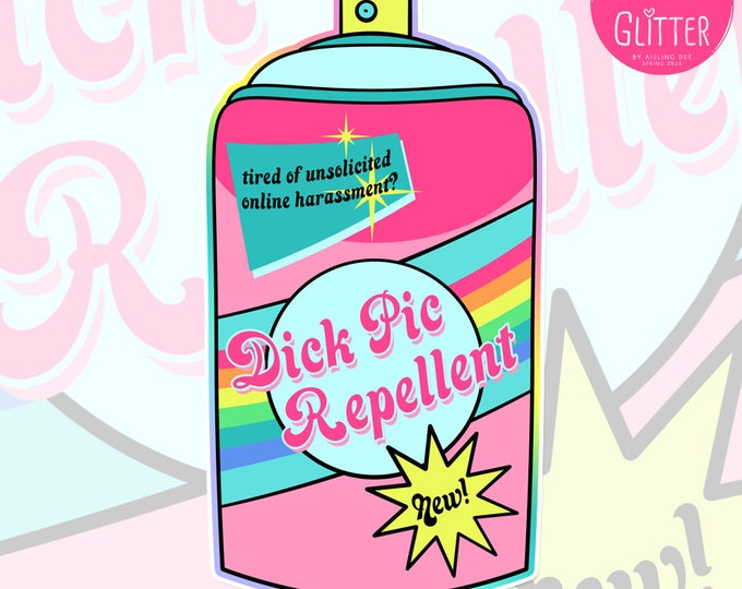 Dick Pic Repellent Holographic Sticker