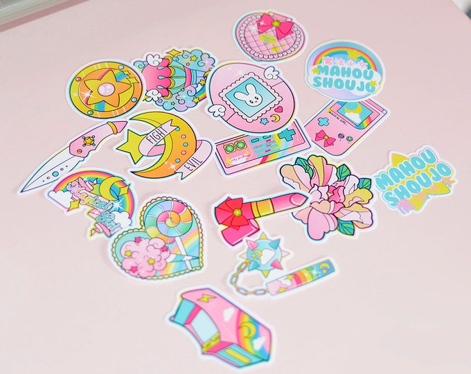Magical Girl Starter Pack White Vinyl Sticker Pack