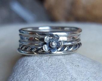 Hand Made Sterling Silver Stacking Rings