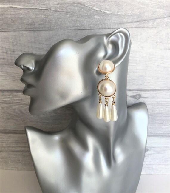 Gorgeous Black Acrylic Teardrop Dangle Earrings 6 CMS Drop