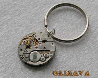 Watch Movement  Steampunk   Clockwork Keychain , Steampunk   Keychain , Clockwork Keychain