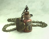 Love Potion Shakespeare  Glow in the Dark Bottle Pendant