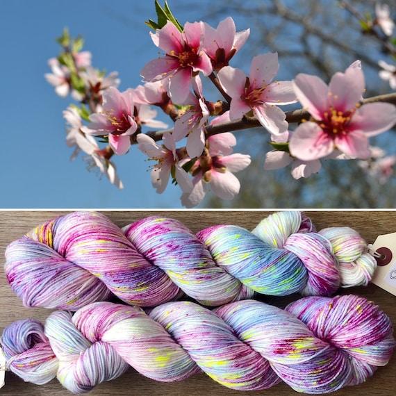 Cherry Blossom, merino nylon blend sock yarn