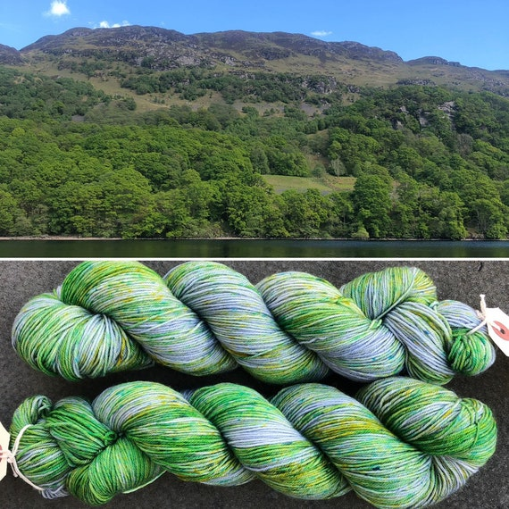 Loch Lomond, indie dyed merino nylon sock yarn