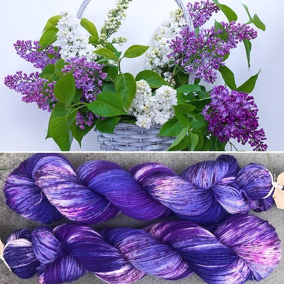 Garden Bouquet BFL, bluefaced leicester nylon sock yarn