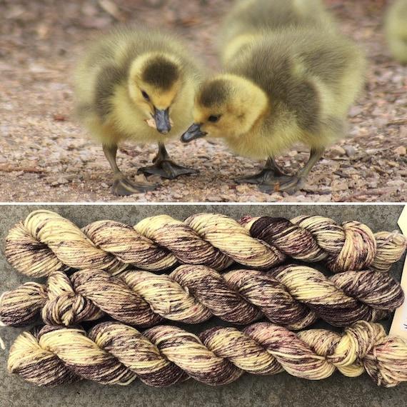 Duckling 20g Miniskein, indie dyed merino nylon sock yarn