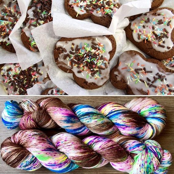 Gingerbread, merino nylon sock yarn