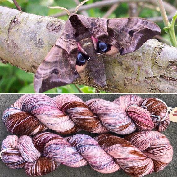 June Hawkmoth, merino nylon sock yarn