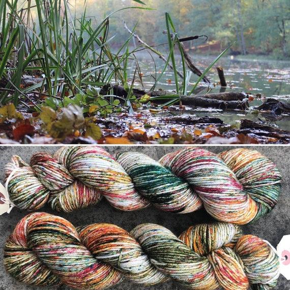 Autumn Morning DK, indie dyed merino nylon sock yarn