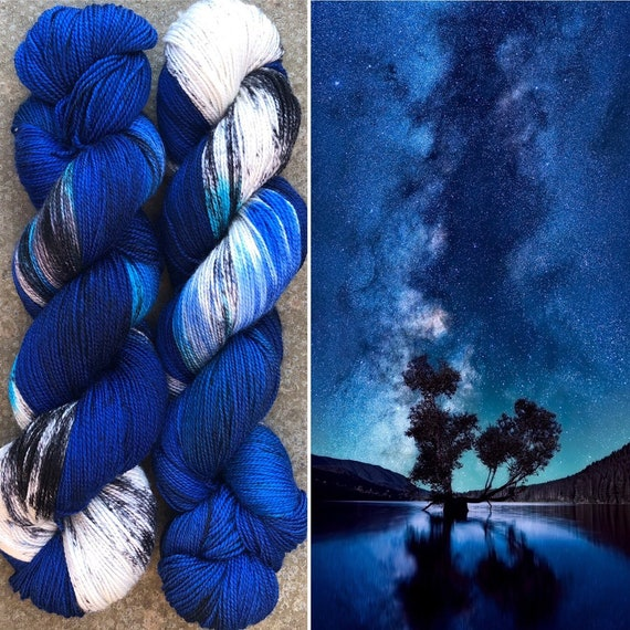 Night Sky Titanium, indie dyed merino nylon sock yarn