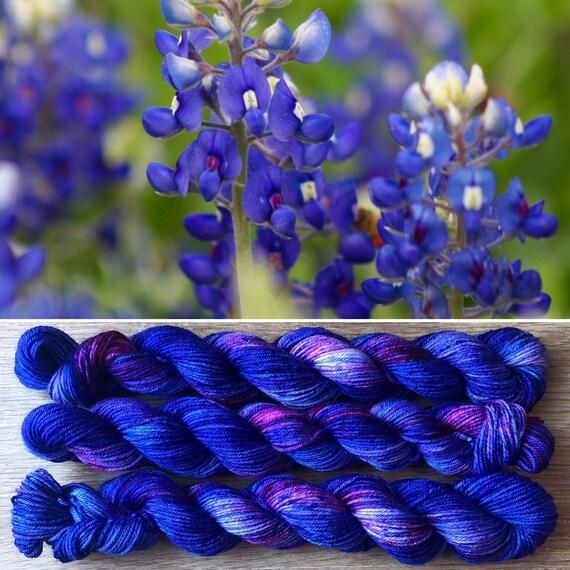 Bluebonnet 20g Miniskein, merino nylon blend sock yarn