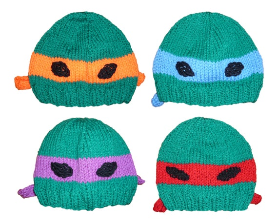 Teenage Mutant Ninja Turtle Hat Knitting Pattern pdf