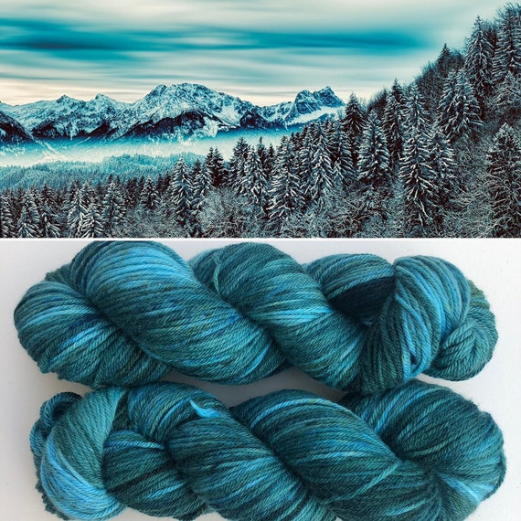 Frozen Forest DK, non superwash merino yarn