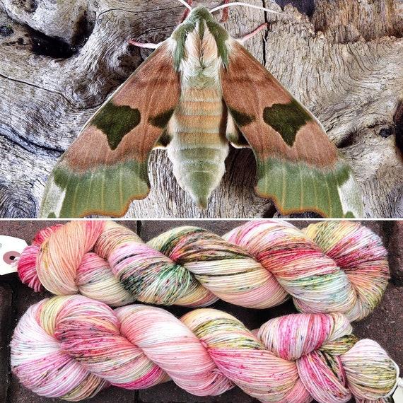 March Hawkmoth Light, indie dyed merino nylon sock yarn