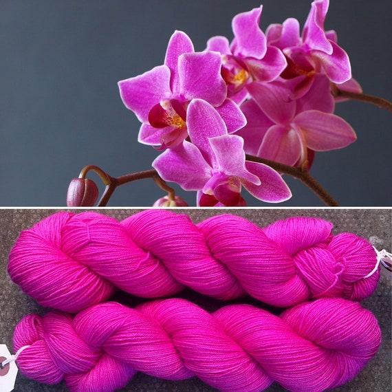 Pink Orchid, merino nylon sock yarn