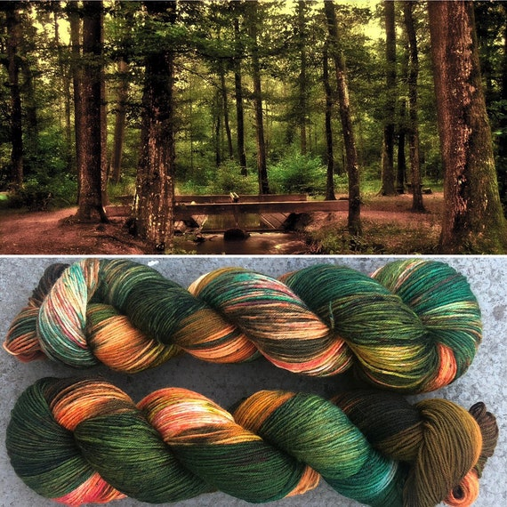 Autumn is Coming, indie dyed merino nylon sock yarn