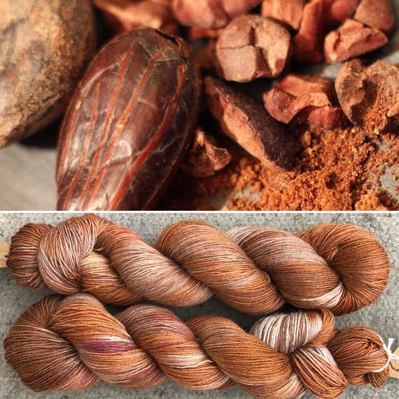 Cocoa Pods BFL, indie dyed bluefaced leicester nylon sock yarn