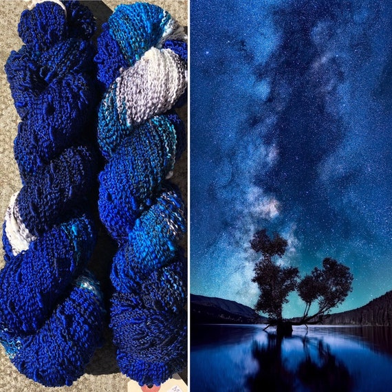 Night Sky Slub, indie dyed merino fingering yarn