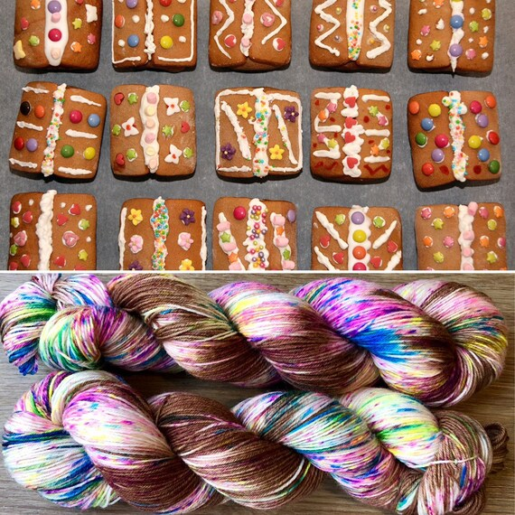 Gingerbread BFL, 4ply fingering bluefaced leicester nylon sock yarn