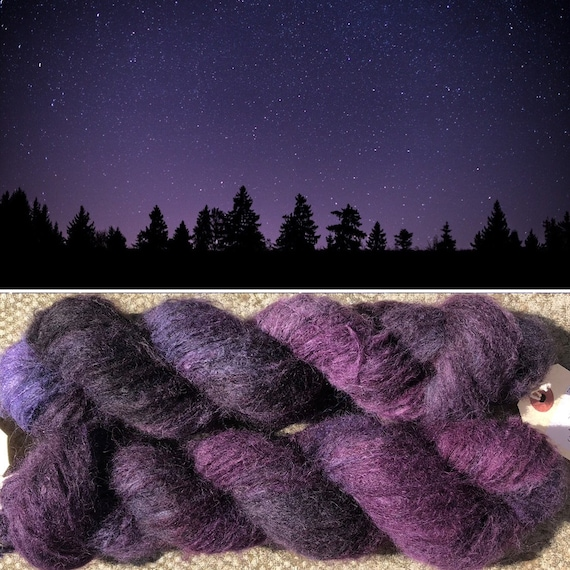 Distant Galaxies Cloud 50g, baby suri alpaca and mulberry silk yarn