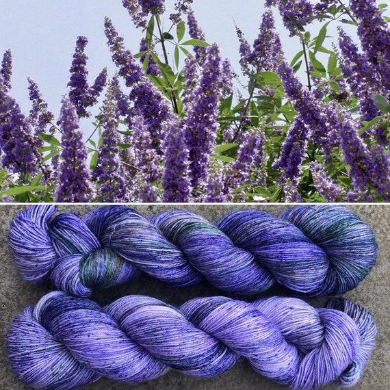 Spring Lilacs, merino nylon blend sock yarn