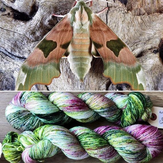January Hawkmoth, indie dyed merino nylon sock yarn