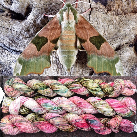 March Hawkmoth 20g Miniskein, merino nylon sock yarn