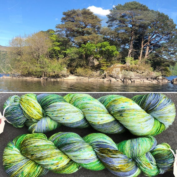 Inveruglas Isle, indie dyed merino nylon sock yarn