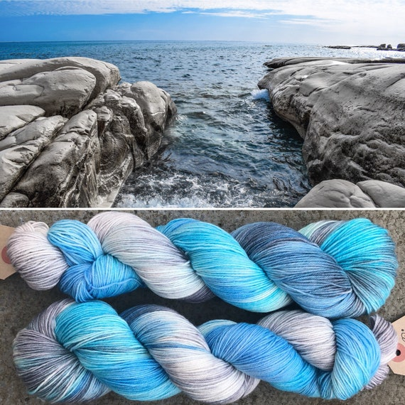 Stony Shore, superwash merino nylon indie dyed sock yarn
