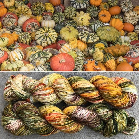 All the Gourds!, Autumn Fall inpired merino nylon sock yarn