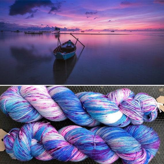 Summer Evening, merino nylon blend speckled sock yarn