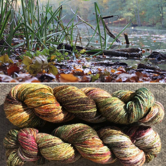 Autumn Morning, sparkle sock merino nylon superwash yarn