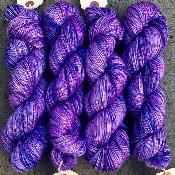 I Only Want The Purple One Silky Sock, merino mulberry silk fingering yarn