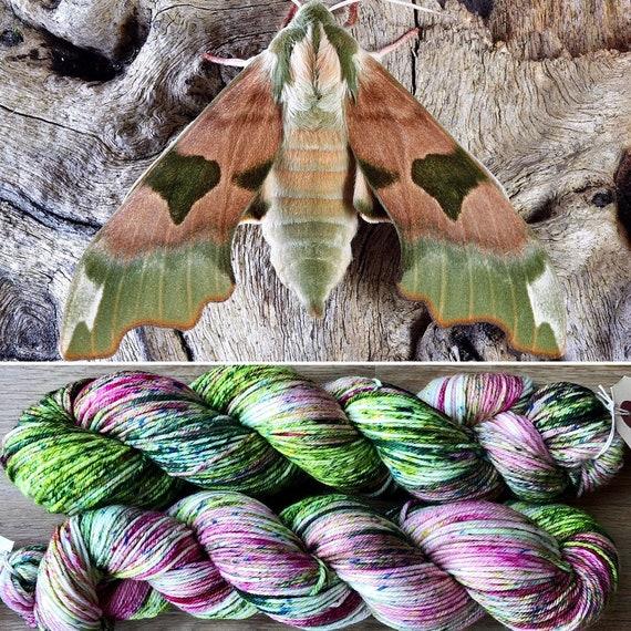 January Hawkmoth DK, indie dyed merino nylon sock yarn