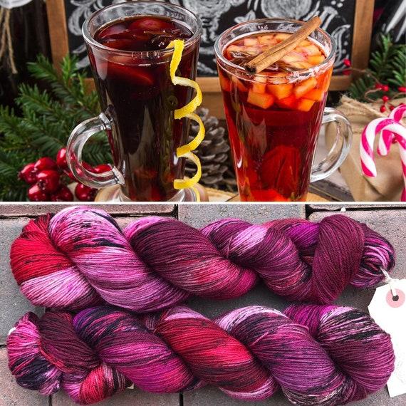 Mulled Wine Spice, Autumn Winter inpired speckled merino nylon sock yarn