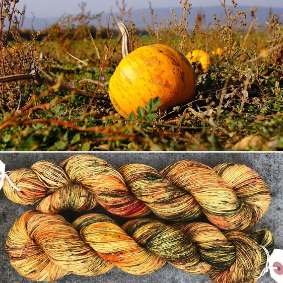 Pumpkin Harvest, indie dyed merino nylon sock yarn