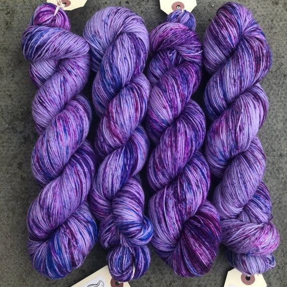 I Only Want The Purple One, indie dyed merino nylon sock yarn