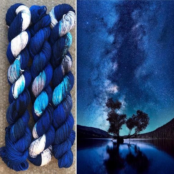 Night Sky 20g Miniskein, indie dyed merino nylon sock yarn
