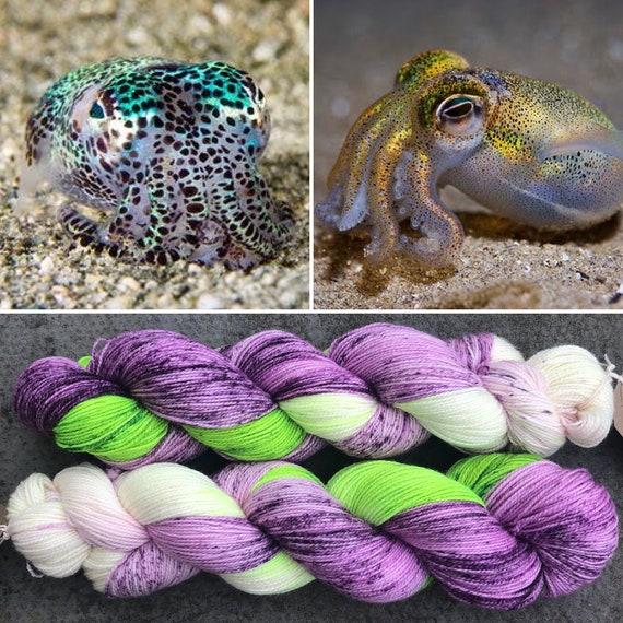 Dumpling Squid Sparkle Sock, merino nylon blend speckled yarn with silver stellina